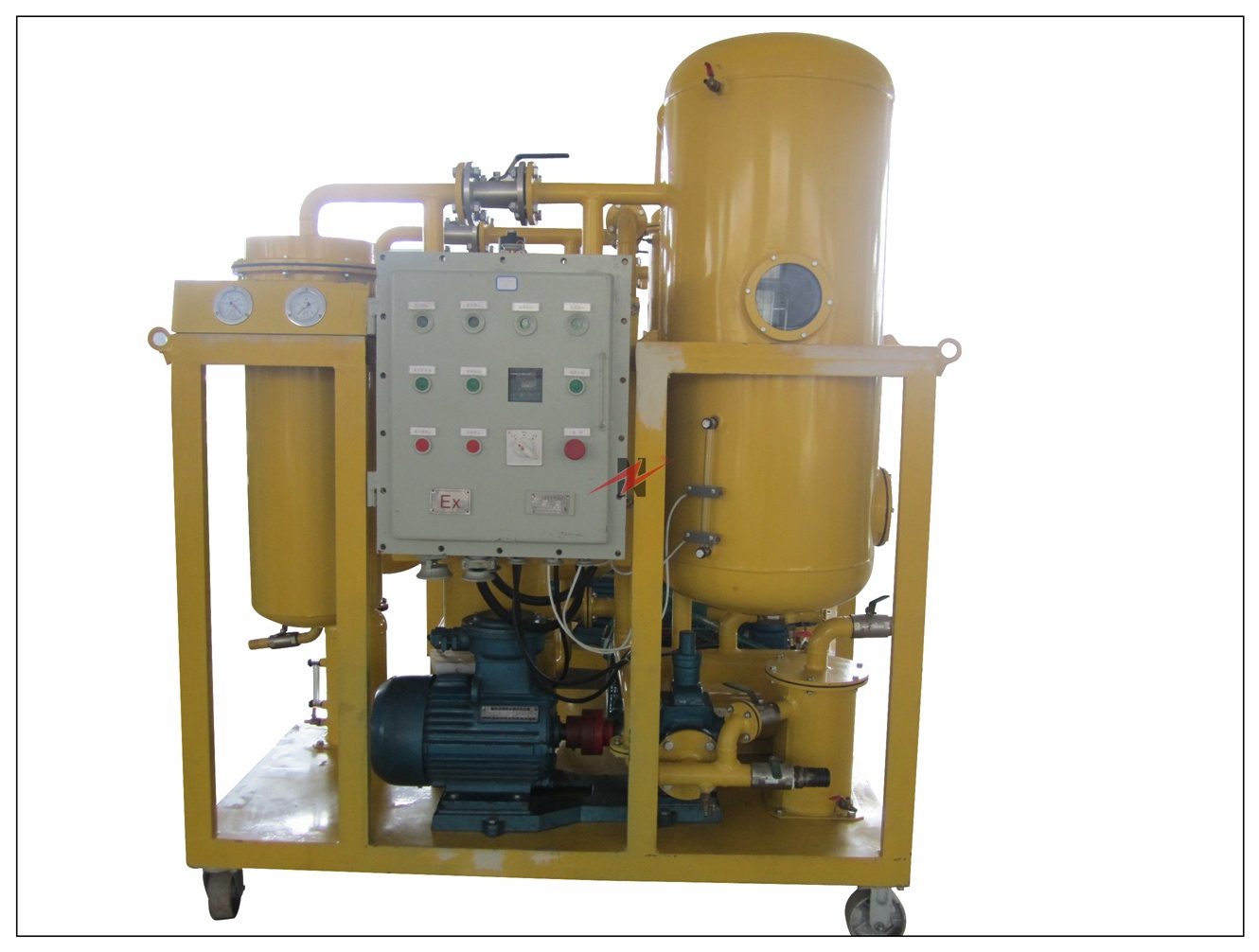 TY-M Enclosed Mobile Type Vacuum Turbine Oil Purification Plant